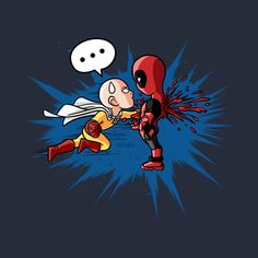 One Punch vs Deadpool Anime Crossover, Comic Book Characters, Comic Character, Genos Wallpaper, Deadpool Wallpaper, Marvel Universe, Valhalla, One Punch Man Funny, Deadpool Funny