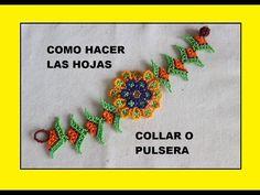 COMO HACER HOJAS PARA PULSERA Y COLLAR - YouTube