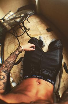Justin Bieber Lying in chair