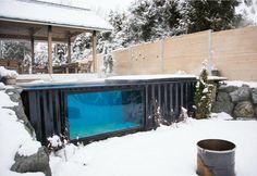 La piscina fuori terra in un container da usare tutto l'anno - Elle Decor Italia