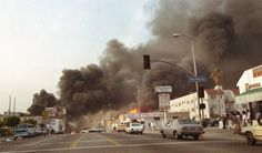 04/29/92 - The L.A. Riots started after a jury trial (made of mostly white people) resulted in the acquittal of 4 L.A. Police officers accused in the videotaped beating of black motorist, Rodney King.  It lasted 6 days, killed 53 people, and injured 2000 more.