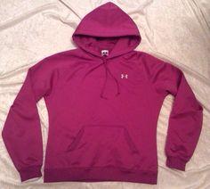 Under Armour Hoodie Small Sweatshirt Pullover Purple Pink Logo Womens #UnderArmour #Hoodie
