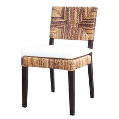 """Kai Dining Chair   Kai Dining Chair  Abaca  19"""" W x 25"""" D x 36"""" H  Finish/Color(s): Natural/Salak Brown"""