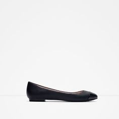CAP-TOE BALLERINA // $25 and a lot of colors // Zara