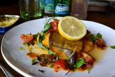 Baked Cod Special at The Boatyard, Isle of Man