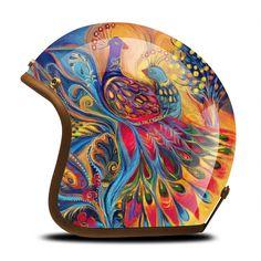 Ironking Store - Amazing prodcuts with exclusive discounts on AliExpress Motorcycle Helmet Design, Motorcycle Paint Jobs, Motorcycle Tank, Scooter Helmet, Cafe Racer Helmet, Cafe Racer Casco, Helmet Head, Helmet Paint, Custom Helmets