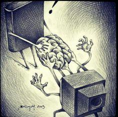 Televizyon beynimizi ele geçiriyor resmen ..