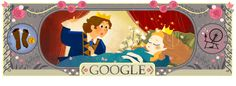Me encanta el Doodle de la Bella Durmiente! Aniversario de Charles Perrault
