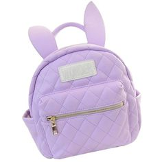 Bunny Ears Backpack Wonderland Rabbit Pastel Cute Kawaii Harajuku... (84 RON) ❤ liked on Polyvore featuring bags, backpacks, purple bag, rucksack bag, rabbit fur bag, bunny bag and backpacks bags