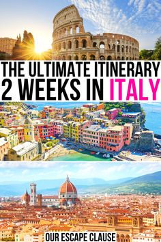 Planning a 2 week Italy trip? Here's everything you need to know! 2 weeks in italy itinerary | itinerary for italy in 2 weeks | 2 week italy vacation | 14 days in italy itinerary | 14 day italy travel guide | best places to visit in italy | italy bucket list itinerary | best things to do in italy | first trip to italy guide | planning a trip to italy | italy itinerary two weeks | two week italy trip | italian vacation tips | travel tips for italy | best travel destinations in italy for 2…