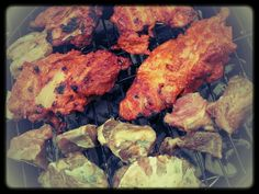 Chicken and beef bbq