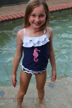 As families get ready for the warmer weather, be sure to check out these Summer Must Haves for families. Have fun in the sun and be prepared!  Yes, that seems obvious, I know.  But you need ones that everyone actually feels comfortable in!  A swimsuit that is going to stay in place while the kids swim and play.  I also suggest one that has UPF.  Sadie is wearing the Seahorse Collection from the Sun Smarties line at OneStepAhead.