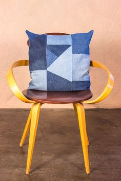 Handmade Denim Pillows, Made to Order from Recycled Denim by SilkDenim on Etsy https://www.etsy.com/listing/265809584/handmade-denim-pillows-made-to-order