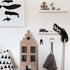 The talented @anamaraz is a master of fun prints (like the whales in this photo) and whimsical settings. We love how here, it seems that try as he may, Mister Crocodile still can't reach the elephants, let alone the ooh noo Alphabet Blocks high up on the shelf. But don't worry, you can access both the blocks and Mister Crocodile via the link in our bio. :) www.ooh-noo.com .