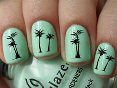 Palm Tree Nail Design! Designing your nails is SO EASY with MOYOU nail art kits! Visit our website: www.lvnailart.com