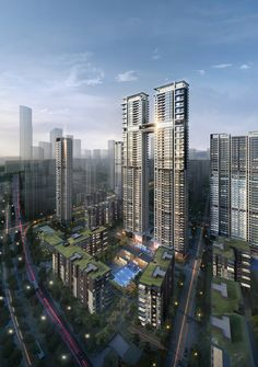 200m luxury Residential twin towers in Wuhan China