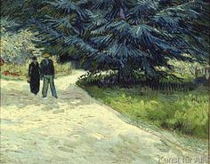 Vincent van Gogh - Couple in the park, Arles, 1888