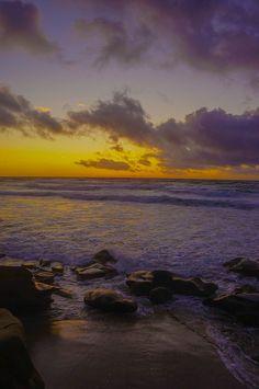 PURPLE and YELLOW -- Wind and Sea Beach --  San Diego, CA -- USA