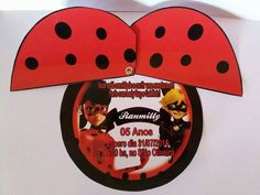 Convite Miraculous LadyBug Ladybug Invitations, Diy Birthday Invitations, 8th Birthday, Birthday Party Themes, Happy Birthday, Cumpleaños Lady Bug, Miraculous Ladybug, Kids, Minions