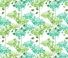 Tropical Daisy fabric by art_is_us on Spoonflower - custom fabric