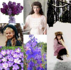 Grand Duchess Anastasia Nikolaevna Romanova of Russia ~ her favorite flowers were Violets.
