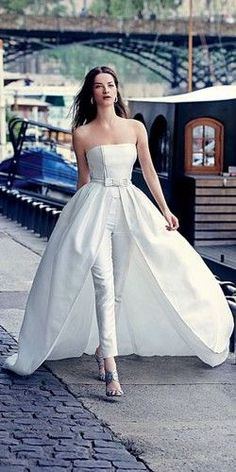 24 Wedding Pantsuit Ideas - Modern Bridal Outfits #weddinggowns