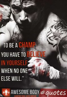 Be a champ ~ Re-Pinned by Crossed Irons Fitness
