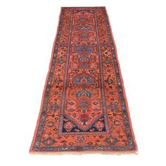 "Image of Antique Persian Heriz Runner - 2'11"" X 9'9"""