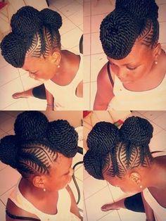 Twist Updo - http://www.blackhairinformation.com/community/hairstyle-gallery/braids-twists/twist-updo-2/ #braidsandtwists