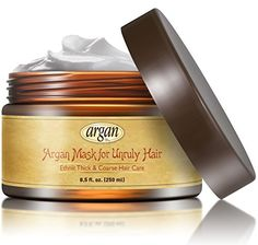 Unruly Hair Mask Deep Conditioner  Extra Thick Coarse Ethnic Hair Care  Moroccan Argan Mask 85 oz  Long Lasting Conditioning for Dry Damaged Hair  Scalp * Details can be found by clicking on the image.