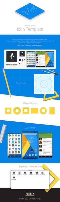 Material Design Icon Template - Freebie PSD on Behance