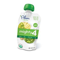 Plum Organics Mighty 4 Organic Toddler Food Banana Kiwi Spinach Kale Greek Yogurt Barley and Oat 4 oz ** Continue to the product at the image link.-It is an affiliate link to Amazon. #BabyFoods