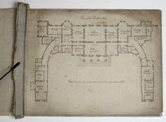 Hackwood Park, Basingstoke, Hampshire, main / ground floor plan.
