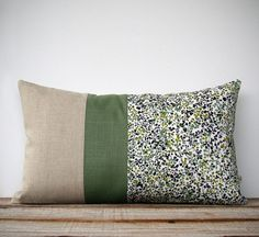LIMITED EDITION Fall Leaves Pillow  Green by JillianReneDecor