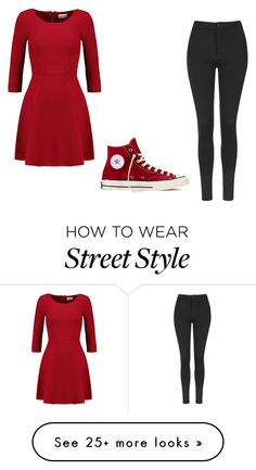 """""""street style"""" by emaleelyoung on Polyvore featuring Milly, Converse and Topshop"""