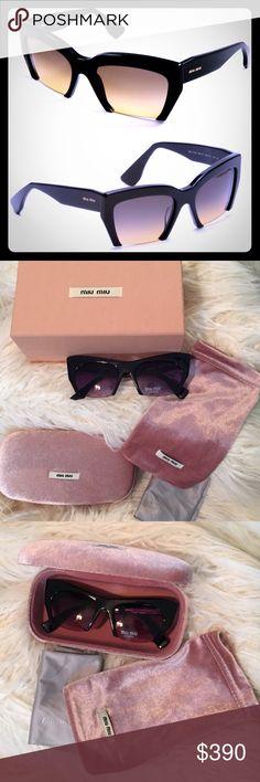 324f7120ec8d Miu Miu Sunnies Super chic sunglasses from Miu Miu (by prada). Black on  black with small gold details. Square frames
