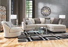 Shop for a Meridian Springs Beige  5 Pc Sectional Living Room at Rooms To Go. Find Living Room Sets that will look great in your home and complement the rest of your furniture.
