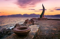 The Sculpture at Agios Nikolaos, Crete, Greece by Joe Daniel Price on No Heat Waves, Ancient Greece, Beach Art, Greece Travel, Greek Islands, Where To Go, Santorini, Places To See, Crete Greece