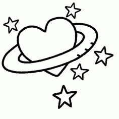 Valentine's Day coloring - heart, love, star, coloring, page free coloring Cute Drawings Of Love, Mini Drawings, Pencil Art Drawings, Kawaii Drawings, Easy Doodles Drawings, Easy Doodle Art, Art Drawings Sketches Simple, Star Coloring Pages, Valentines Day Drawing