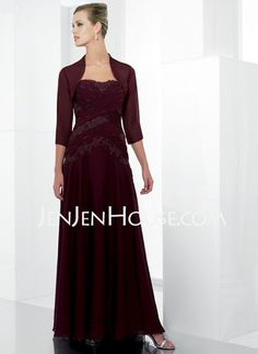 Mother of the Bride Dresses - $166.49 - A-Line/Princess Strapless Floor-Length Chiffon  Charmeuse Mother of the Bride Dresses With Embroidered (008006386) http://jenjenhouse.com/A-line-Princess-Strapless-Floor-length-Chiffon--Charmeuse-Mother-Of-The-Bride-Dresses-With-Embroidered-008006386-g6386