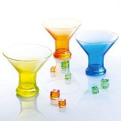 Coupes à glace jaune, orange et bleue Crazy Colors