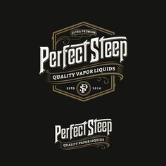 Perfect Steep - Design an artisan / vintage logo for a new ultra-premium eJuice brand Manufacturer of ultra-premium (i. high-end) eJuices / eLiquids for vaping in e-Cigarettes. Design Trends 2018, Graphic Design Trends, Graphic Design Inspiration, Web Design, Vintage Logo Design, Vintage Typography, Custom Logo Design, Art Deco Logo, Banners