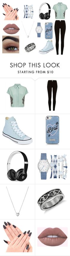 """""""~"""" by mangle322 on Polyvore featuring Jaeger, River Island, Converse, Skinnydip, Beats by Dr. Dre, A.X.N.Y. and Links of London"""
