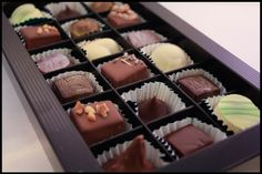 18pc chocolate box now on sale! #organic #handmade #chocolate #finland