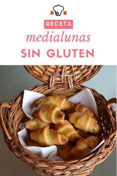 Receta de medialunas sin gluten.  #recetasingluten #medialunas #singluten #glutenfree #recetas