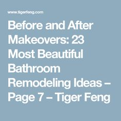Before and After Makeovers: 23 Most Beautiful Bathroom Remodeling Ideas – Tiger Feng Small Space Bathroom, Small Bathrooms, Master Bathroom, Bathroom Interior, Bathroom Ideas, Bathroom Updates, Bathroom Stuff, Bath Ideas, Bathroom Designs