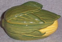 Vintage Shawnee Pottery Corn King Individual Casserole
