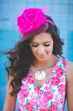 derby fashion hats at DuckDuckGo Kentucky Derby Outfit, Kentucky Derby Fashion, Derby Attire, Derby Outfits, Pink Outfits, Pink Fascinator, Run For The Roses, Derby Day, Rose Dress