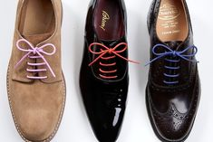 Love this idea to add some color to some boring shoes!