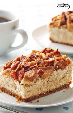 Apple-Pecan Cheesecake #recipe